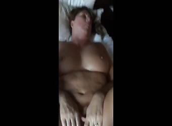 Milf takes a black and white big cock in pussy