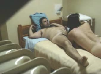 Amateur homemade threesome in a european motel