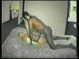 Horny wife getting fucked by black man in a cheap motel