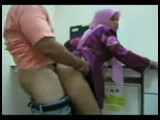 Horny arab chick fucking her boss at work