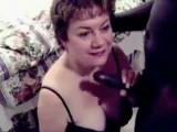 50 yr old mom loves the big black cock