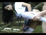 Outdoor schoolgirl fuck