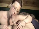 Milf wife throats his long cock