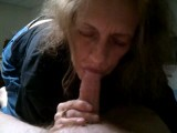 Grandma cum in mouth blowjob