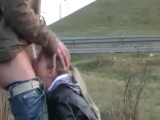 Roadside public deepthroat