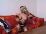 German milf horny at home