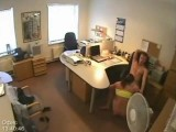 Hidden security cam office sex