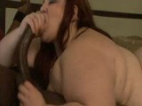 Big fat BBW deepthroats 12in black cock