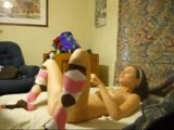 Hot teen with socks on homemade sextape