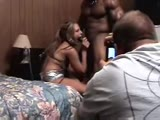 Wife gets fucked by huge muscular black man in front of cucked hubby