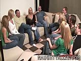 Party game leads to huge amateur orgy