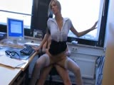 Beautiful german amateur has sex in the office