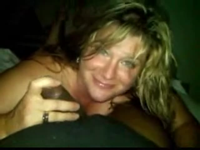 White milf loves brown cock