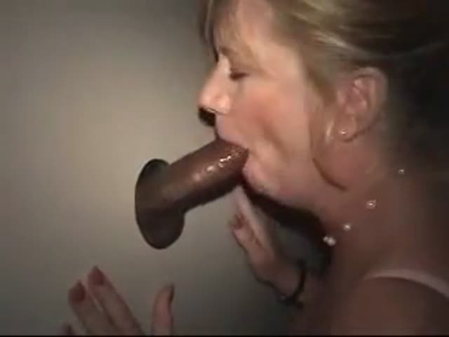 Wife taken to black gloryhole — 1