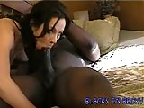Becky in a bed masturbates and squirts she then fucks a big blackcock