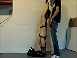 Kathy tied and throatfucked in basement