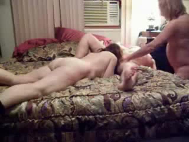 Lesbian Threesome Step Sister