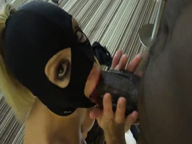 Interracial masked blowjobs big booty white 7