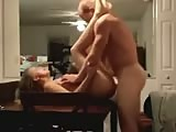 Horny amateur blondie fucked in the table