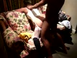 White wife getting pounding by black guy doggystyle