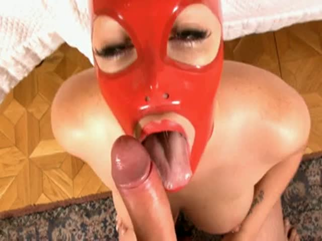 Mask blowjob