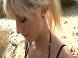 Cute blonde series - beach anal sex