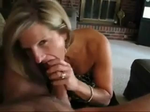 Blonde Sucking Black Cock
