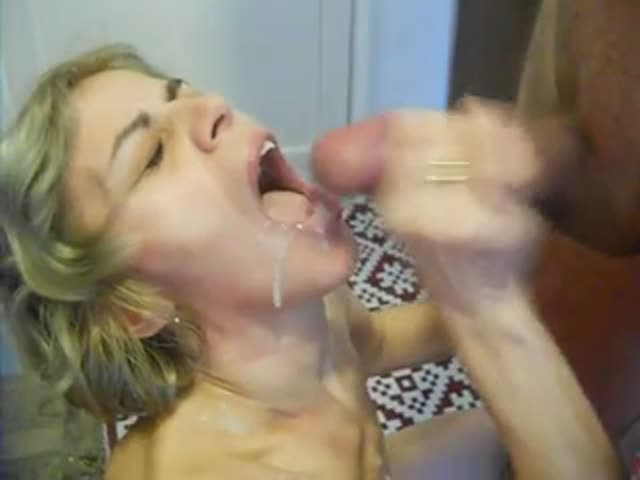 White Teen Swallows Black Cum