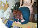BBW redhead fucked on the desk