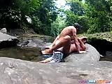 Sex with GF in the river