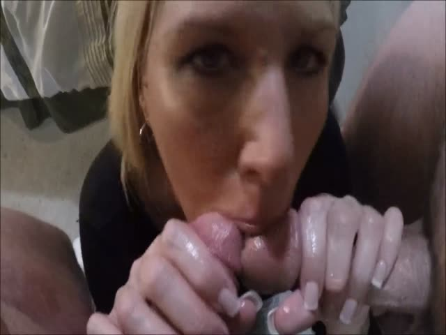 Brunette Wife Two Cocks