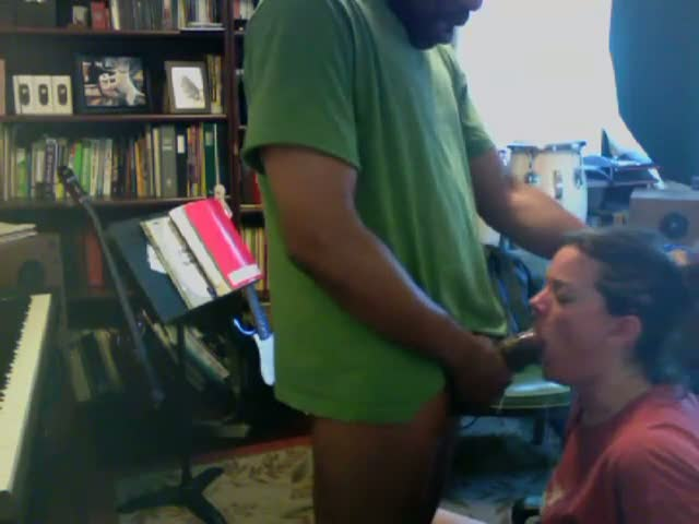 Chubby Black Teen White Guy