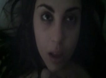 Arabian Lebanese teen swallowing cum