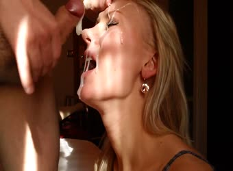 Small Dick Cums Alot On Hot Blonde's Face
