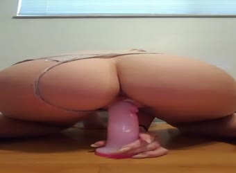 Tumblr find - big booty teen riding her dildo