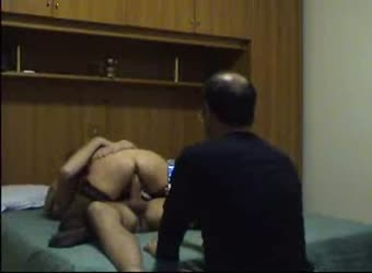 Hubby watches mature wife cum on young big cock