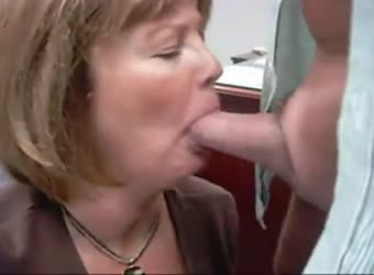 Mature secretary performs her job