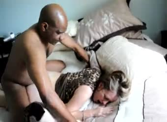 Mature wife getting BBC in front of hubby