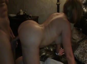Hotwife swinger taking a huge cock doggy