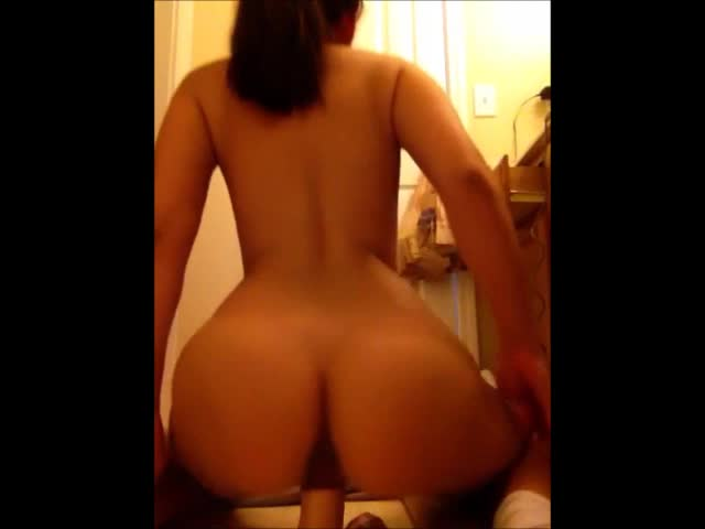 Ebony Riding White Dick Pov