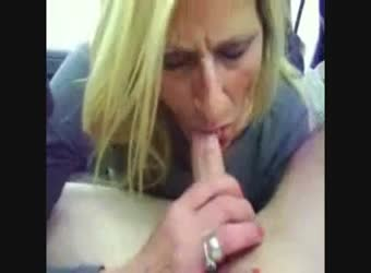 Mature with young cum swallow