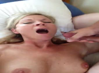 Milf fucked missionary with cum in mouth