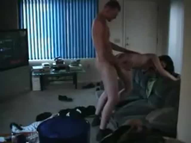 Amateur threesome video spycam