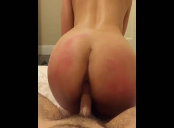 Riding and doggy with round ass