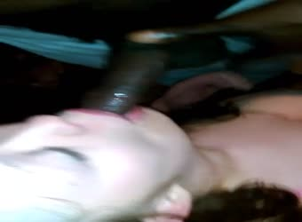 Wife spitroasted and gets a double facial