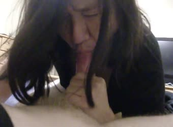 Asian mature blowjob and swallow