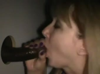 Happy wife and gloryhole BBC cum