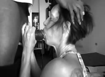 68 yr old granny sucking off black cock