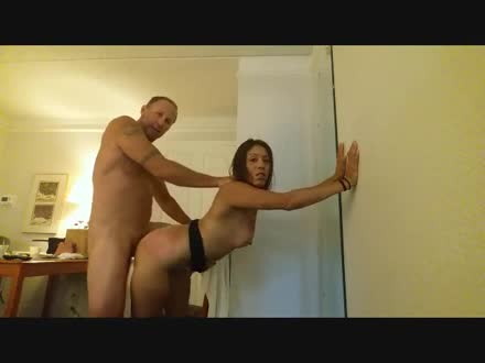 Standing sex couple