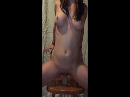 Kristina fucking a 8 inch dildo
